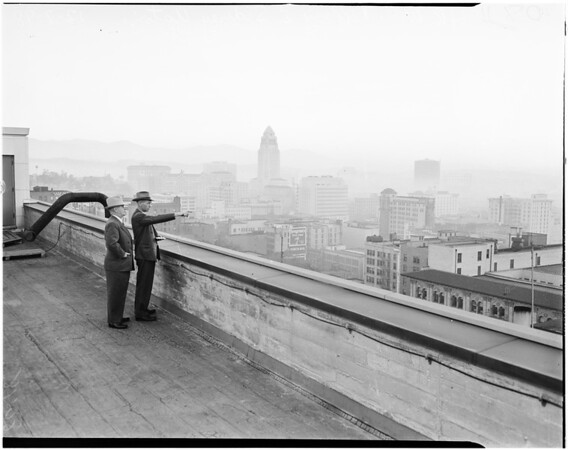 Smog control in downtown Los Angeles, 1948
