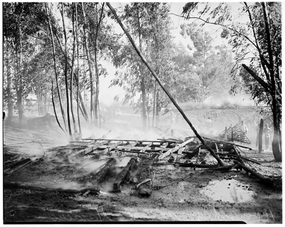 Fire at 1000 block of 166th Street (Gardena), 1952