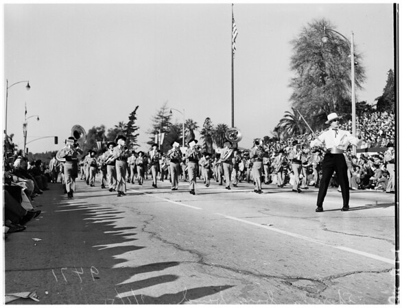 Tournament of Roses ...Bands in parade, 1952