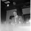 Wabash railroad president... alone in picture, 1952