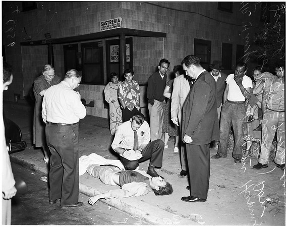 Murder in front of 663 Lamar Street, 1952