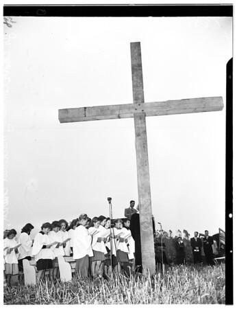 Easter Sunrise Services (Puente Hill), 1952