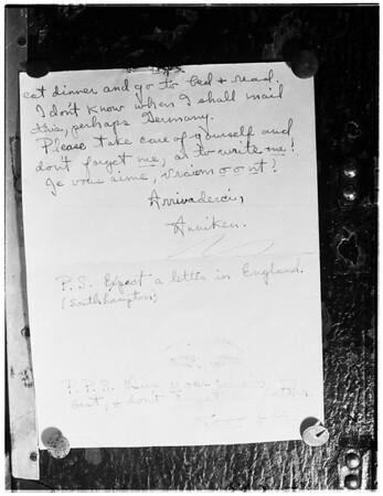 Pre-divorce love letter... written by Ann Aucher to Maurice Felix Aucher before marriage, 1952