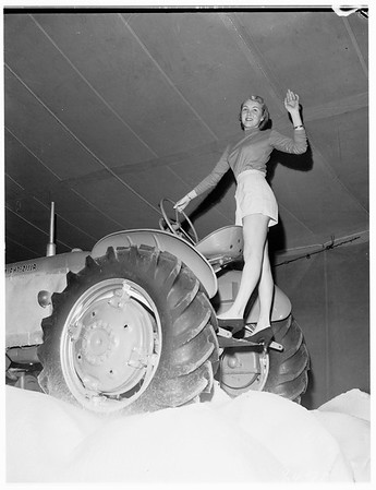 Tournament of Roses ...United States Marine Corps tractor for float, 1951