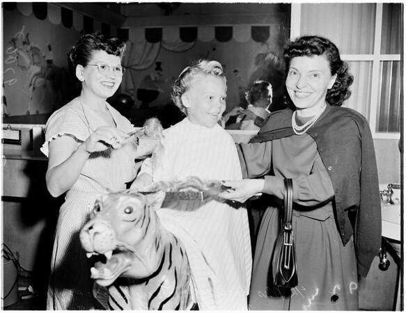First hair cut, 1952
