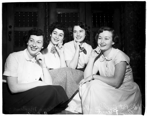 Marymount School for Girls... Candidates for queen, 1952