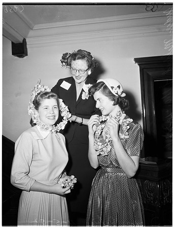 Young Women Christian Association orchid girl, 1952