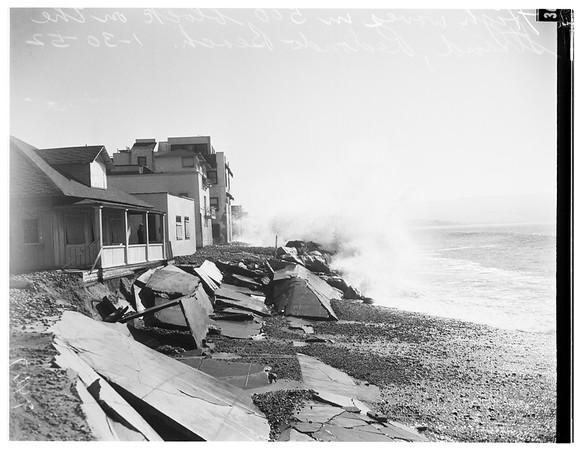 Redondo Beach high waves, 1952