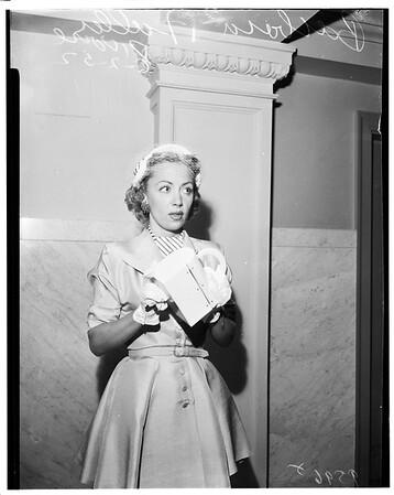 Divorce case, 1952
