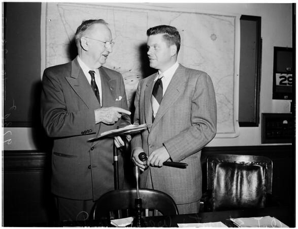 Smog meeting - Pasadena City Hall, 1952