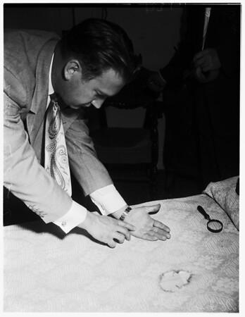 Santa Monica mystery death story (Dorothy Preston), 1952