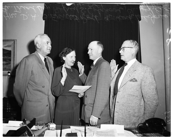 New appointments at District Attorney's Office, 1952