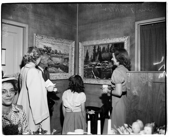 Whittier Art Association Bailey exhibit, 1952