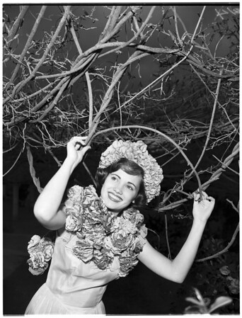 Wisteria Queen at Sierra Madre, 1952