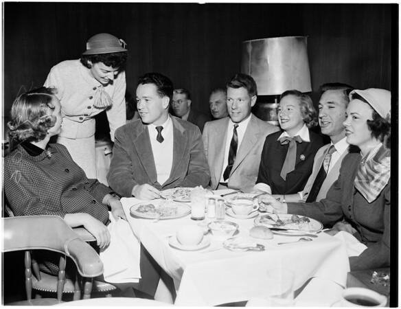 Carriage Club luncheon...Perino's Restaurant, 1952