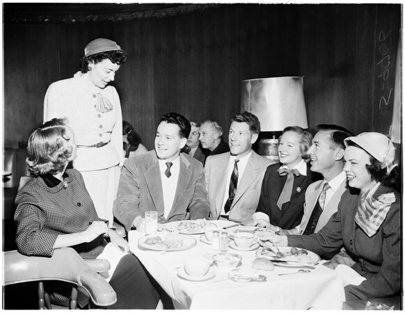 Carriage Club luncheon...Perino's Restaurant, 1952