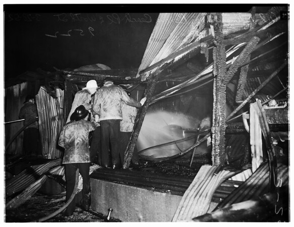 Fire in Oil Refinery at Bonnie Beach Place and Worth Street, East Los Angeles, 1952
