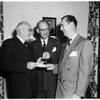 Freedoms Foundation award... medal and $100.00, 1952