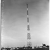 KFVD Radio tower being painted... 5526 East Cortland Street, 1952