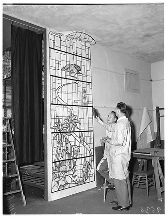 Clayton Ward Memorial Window (to be presented to Saint John's Presbyterian Church), 1952