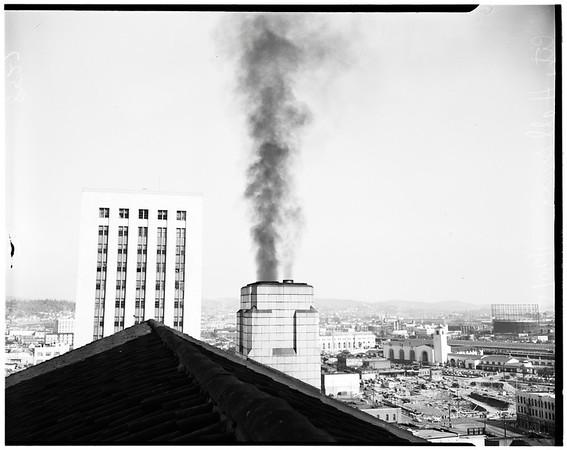 City Hall smog, 1950
