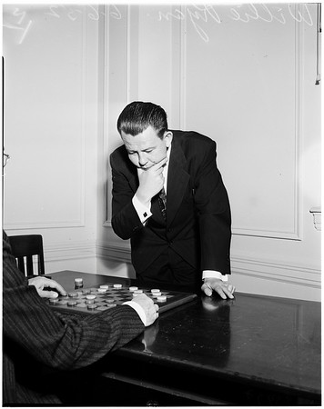 World champion checker player, 1952