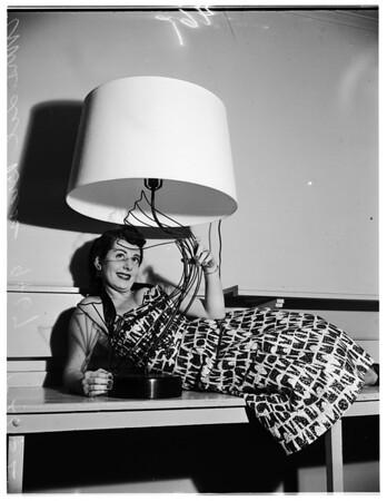 Drapery and lamp show at Biltmore Hotel, 1952