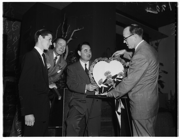 Heart ...Kick off luncheon at town house, 1952