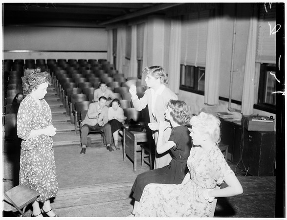 Pasadena playhouse ...One act play tournament ...Monrovia-duarte High School, Whittier High School, Pasadena City College High School Division, 1952