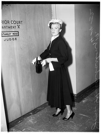 Joan Halliburton alimony, 1952