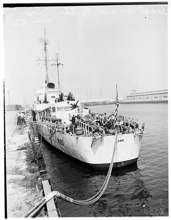 "Coast guard weather cutter USS ""Lowe"", 1952"