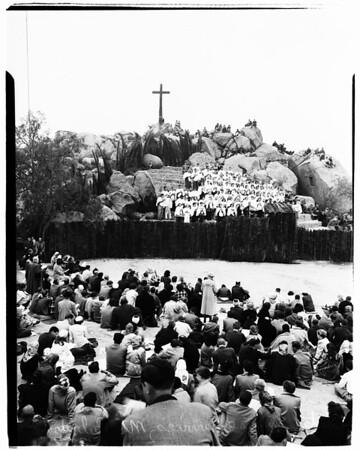 Easter (Mount Rubidoux, Riverside), 1952