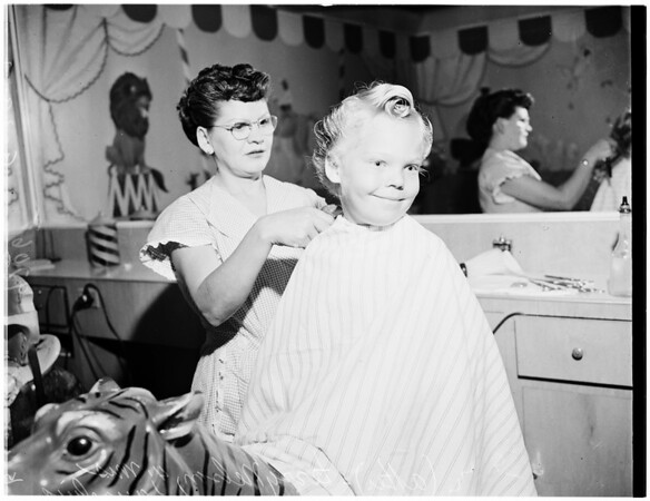 First hair cut, 1952