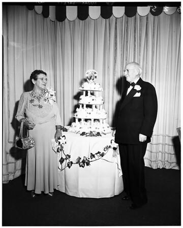 Leichter Fiftieth Wedding Anniversary dinner at Beverly Hills Hotel, 1952