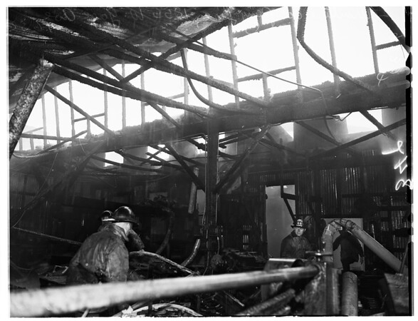 Furniture Company fire at 1855 West Gage Avenue, 1952