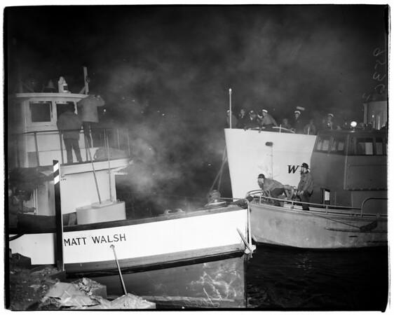 Boat Fire (Long Beach Harbor), 1952