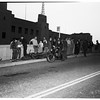 Motorcyclist killed... Crashed into 30 feet wall opposite public library on 5th Street, 1952