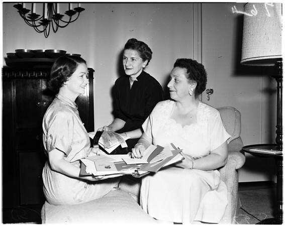 Alpha Xi Delta convention planning, 1953