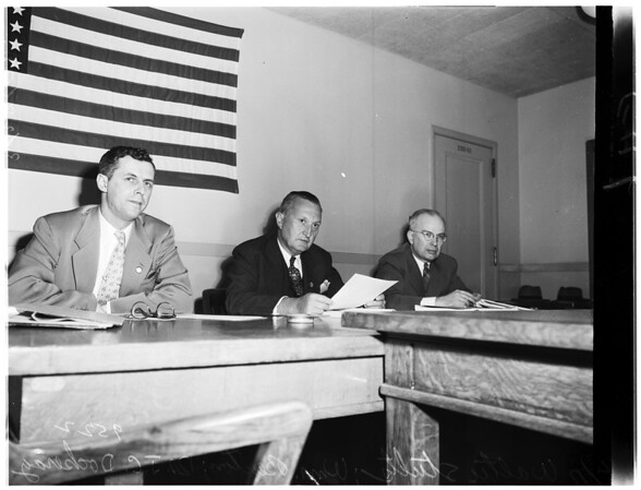 Small business hearing... Congressional Committee hearing on tax problems of small business men... at Federal Building, 1952
