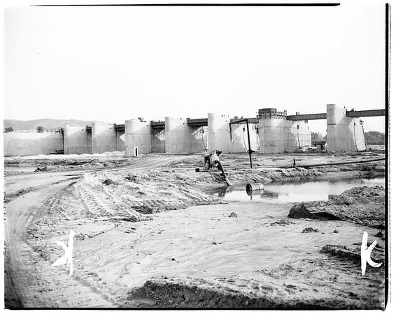 Whittier Narrows dam, 1952