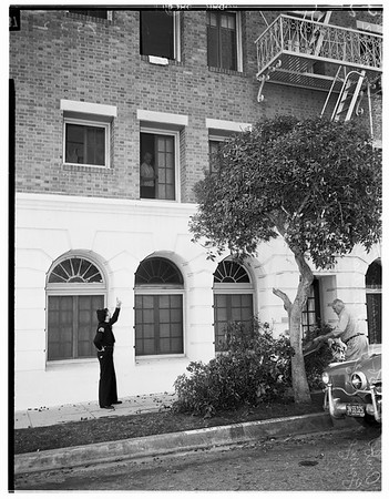 Suicide... Man leaps to death from third floor of 3835 West 8th Street, 1952