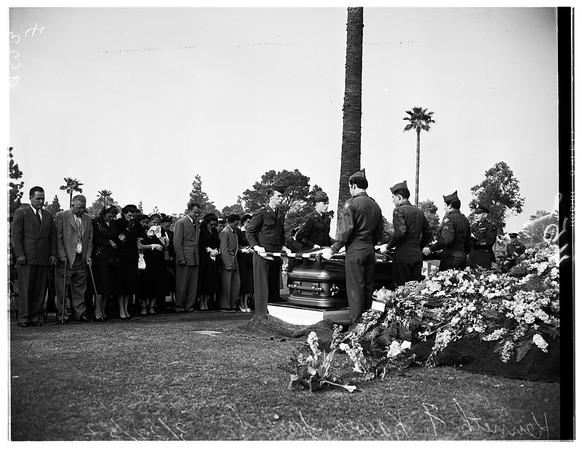 40th Division veteran funeral (Kenneth F. Kaiser, Junior), 1952