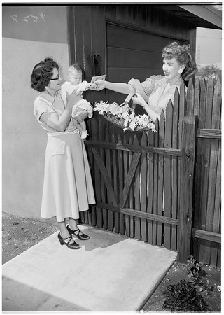 Baldwin Park house greeter, 1952