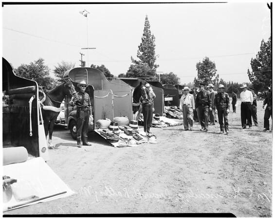 Sheriff's posse (inspecting Temple City posse), 1952