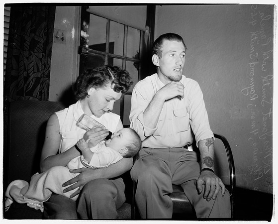 Husband shot by estranged wife ...936 West Gage Avenue, 1952