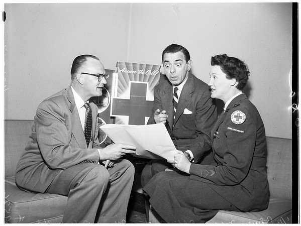 Eddie Cantor and Red Cross, 1952