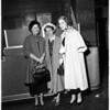 Perinos leave LA International Airport, 1953