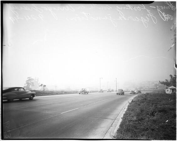 Beautiful Los Angeles smog, 1949