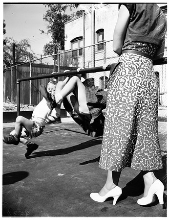 Playground mat (Vermont Avenue School), 1952