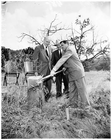 Seven Day Adventist ground breaking, 1952